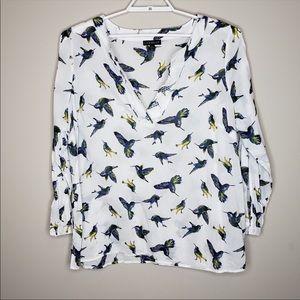 Lane Bryant pullover top hummingbird print      S2